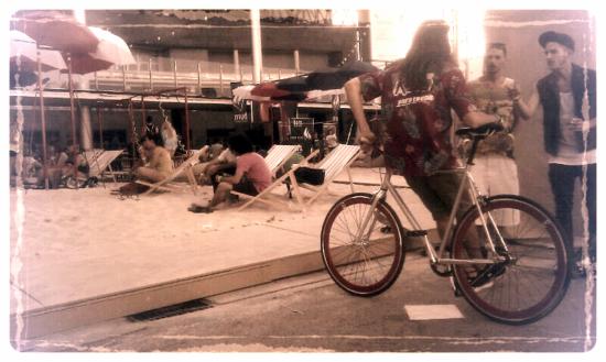 Playa urbana en el Mulafest de Madrid.
