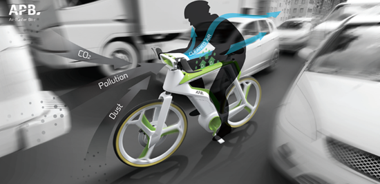 Diseño de la bicicleta purificadora del aire.