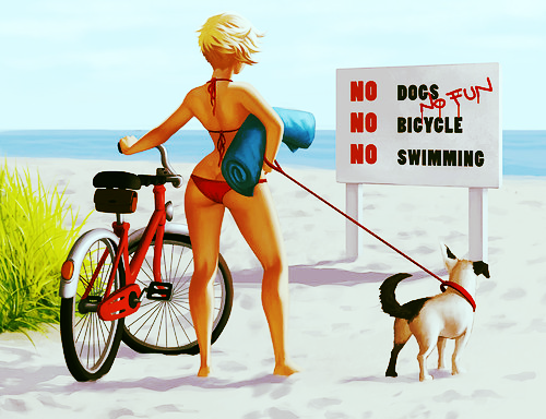 Graffiti,illustration,beach,bicycle,dog,girl-defa24d9c5afe551539ca8b9404ac7cb_h