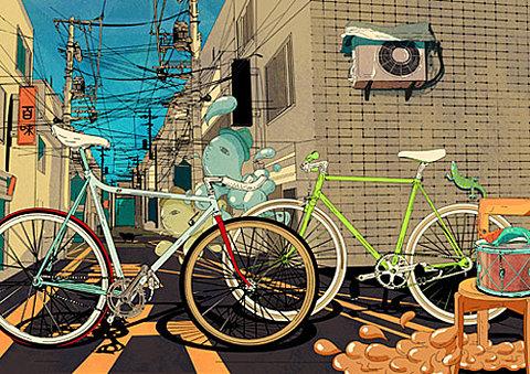 Ilustración bicicletas